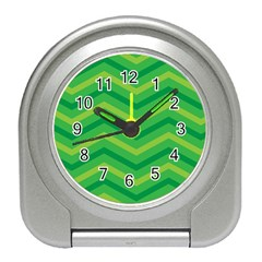 Green Background Abstract Travel Alarm Clock