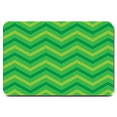 Green Background Abstract Large Doormat
