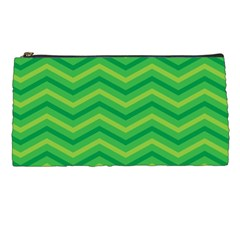 Green Background Abstract Pencil Cases