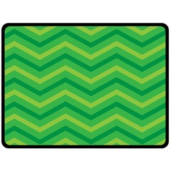 Green Background Abstract Double Sided Fleece Blanket (large)