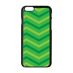 Green Background Abstract Apple Iphone 6/6s Black Enamel Case by Sapixe