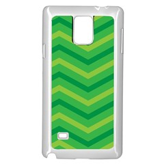 Green Background Abstract Samsung Galaxy Note 4 Case (white) by Sapixe