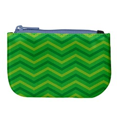 Green Background Abstract Large Coin Purse by Sapixe