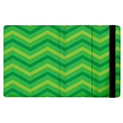 Green Background Abstract Apple Ipad Pro 12 9   Flip Case by Sapixe