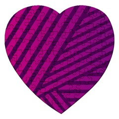 Pattern Lines Stripes Texture Jigsaw Puzzle (heart)