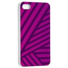 Pattern Lines Stripes Texture Apple Iphone 4/4s Seamless Case (white)