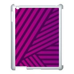 Pattern Lines Stripes Texture Apple Ipad 3/4 Case (white) by Sapixe