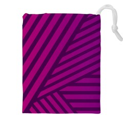 Pattern Lines Stripes Texture Drawstring Pouch (xxl) by Sapixe