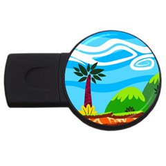 Landscape Background Nature Sky Usb Flash Drive Round (4 Gb) by Sapixe