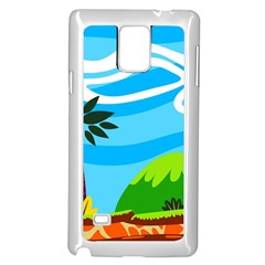 Landscape Background Nature Sky Samsung Galaxy Note 4 Case (white) by Sapixe