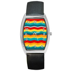Retro Colors 60 Background Barrel Style Metal Watch