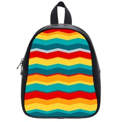 Retro Colors 60 Background School Bag (small) by Sapixe