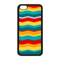 Retro Colors 60 Background Apple Iphone 5c Seamless Case (black) by Sapixe