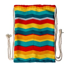 Retro Colors 60 Background Drawstring Bag (large) by Sapixe