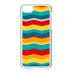 Retro Colors 60 Background Apple Iphone 8 Seamless Case (white) by Sapixe