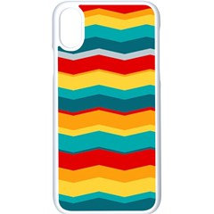 Retro Colors 60 Background Apple Iphone X Seamless Case (white)