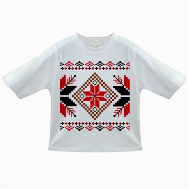 Ornament Stars Textile Crochet Infant/Toddler T-Shirts