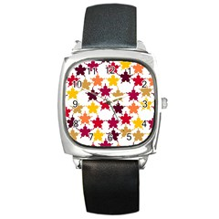 Background Abstract Square Metal Watch by Sapixe