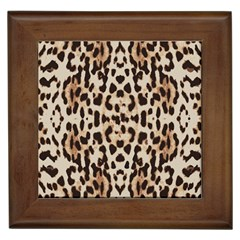 Pattern Leopard Skin Background Framed Tiles