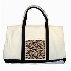 Pattern Leopard Skin Background Two Tone Tote Bag