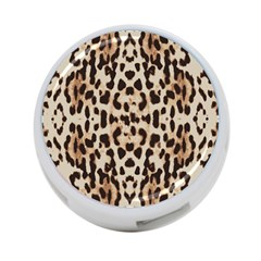 Pattern Leopard Skin Background 4 Port Usb Hub (two Sides)