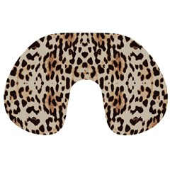 Pattern Leopard Skin Background Travel Neck Pillows by Sapixe