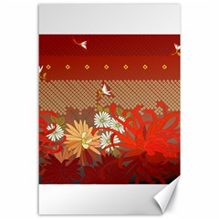 Abstract Background Flower Design Canvas 24  X 36