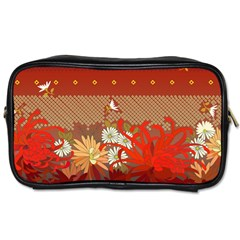 Abstract Background Flower Design Toiletries Bag (one Side)