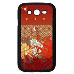 Abstract Background Flower Design Samsung Galaxy Grand Duos I9082 Case (black)