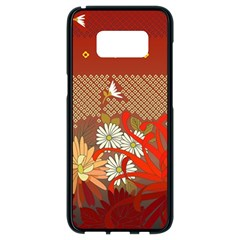 Abstract Background Flower Design Samsung Galaxy S8 Black Seamless Case