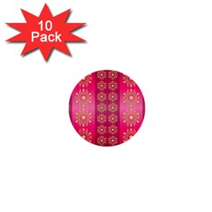 Background Pattern Pink Wallpaper 1  Mini Buttons (10 Pack)