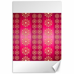 Background Pattern Pink Wallpaper Canvas 12  X 18