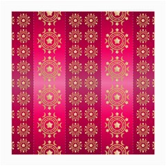 Background Pattern Pink Wallpaper Medium Glasses Cloth (2 Side)