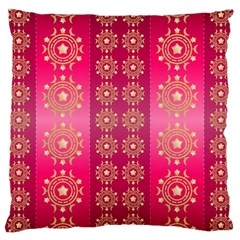 Background Pattern Pink Wallpaper Large Cushion Case (one Side)