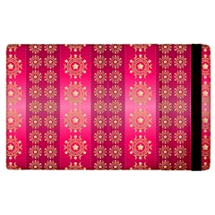 Background Pattern Pink Wallpaper Apple Ipad 3/4 Flip Case by Sapixe