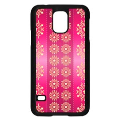 Background Pattern Pink Wallpaper Samsung Galaxy S5 Case (black)