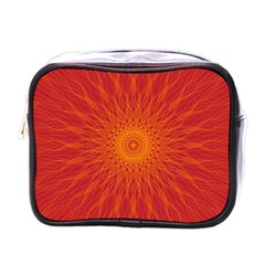 Background Rays Sun Mini Toiletries Bag (one Side)