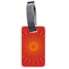 Background Rays Sun Luggage Tags (one Side)