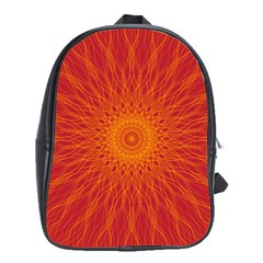 Background Rays Sun School Bag (xl) by Sapixe