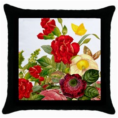 Flower Bouquet 1131891 1920 Throw Pillow Case (black) by vintage2030