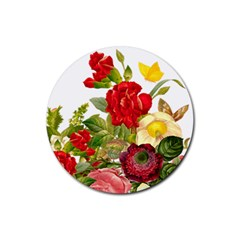 Flower Bouquet 1131891 1920 Rubber Coaster (round)  by vintage2030