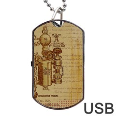 Vintage 1123731 1920 Dog Tag Usb Flash (two Sides) by vintage2030