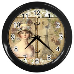 Paris 1122617 1920 Wall Clock (black) by vintage2030