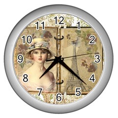 Paris 1122617 1920 Wall Clock (silver) by vintage2030