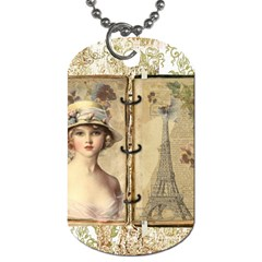 Paris 1122617 1920 Dog Tag (two Sides) by vintage2030