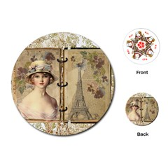 Paris 1122617 1920 Playing Cards (round) by vintage2030