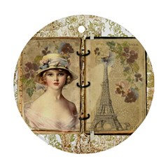 Paris 1122617 1920 Round Ornament (two Sides) by vintage2030
