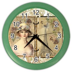 Paris 1122617 1920 Color Wall Clock by vintage2030