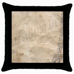 Paris 1118815 1280 Throw Pillow Case (black) by vintage2030