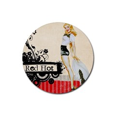 Retro 1112777 1920 Rubber Coaster (round)  by vintage2030